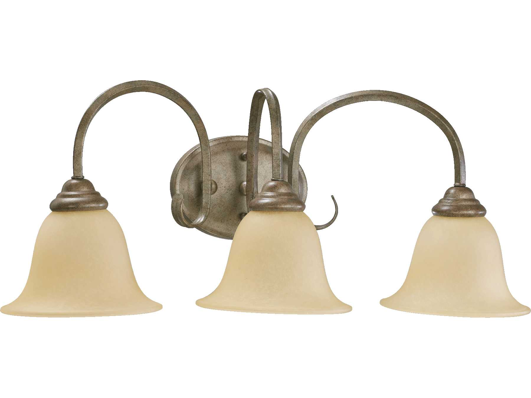 Quorum Vanity Lights : Quorum International Spencer Mystic Silver Three-Lights Vanity Light 5110-3-58