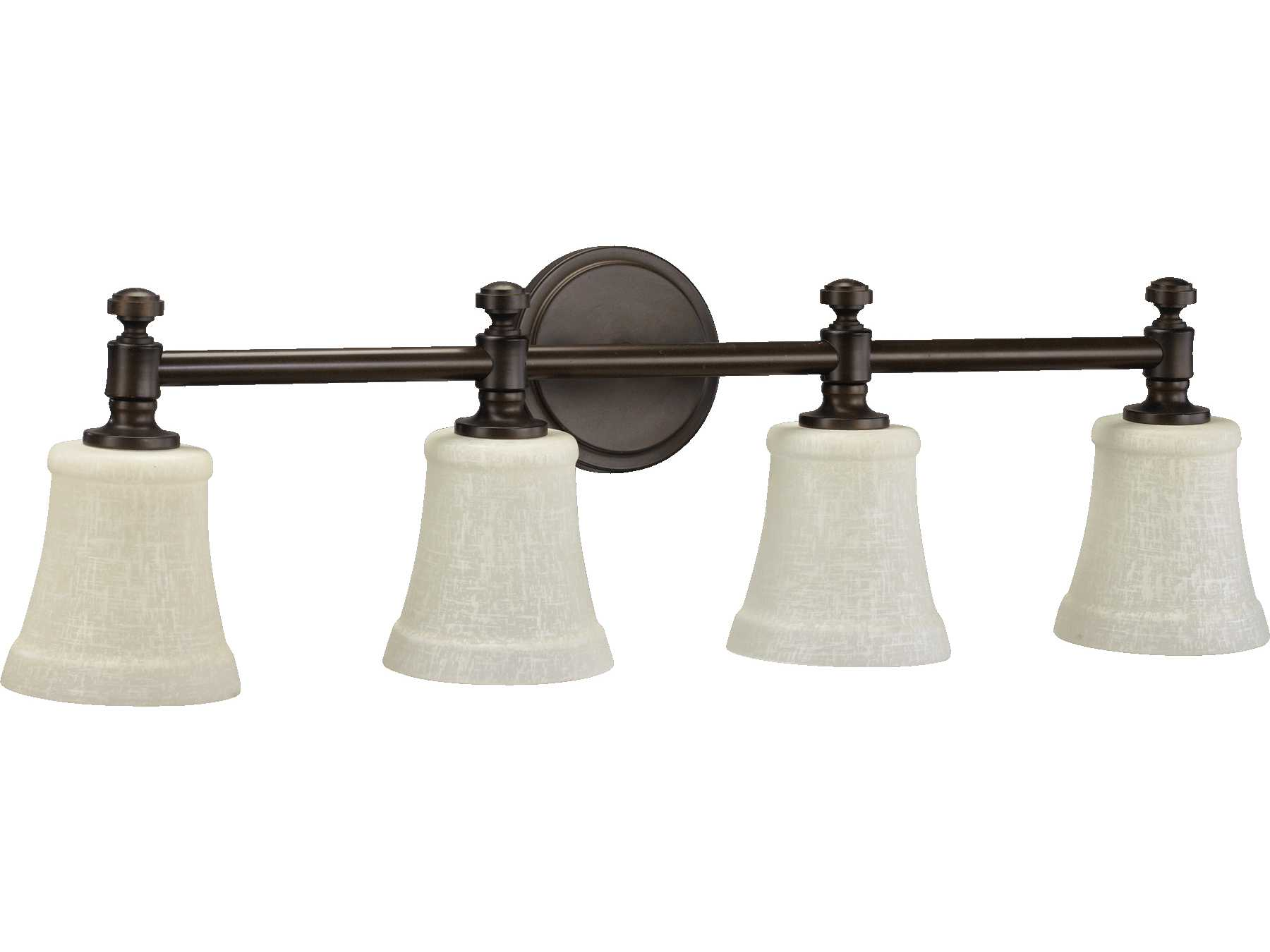 Quorum Vanity Lights : Quorum International Oiled Bronze Four-Lights Vanity Light 5122-4-86