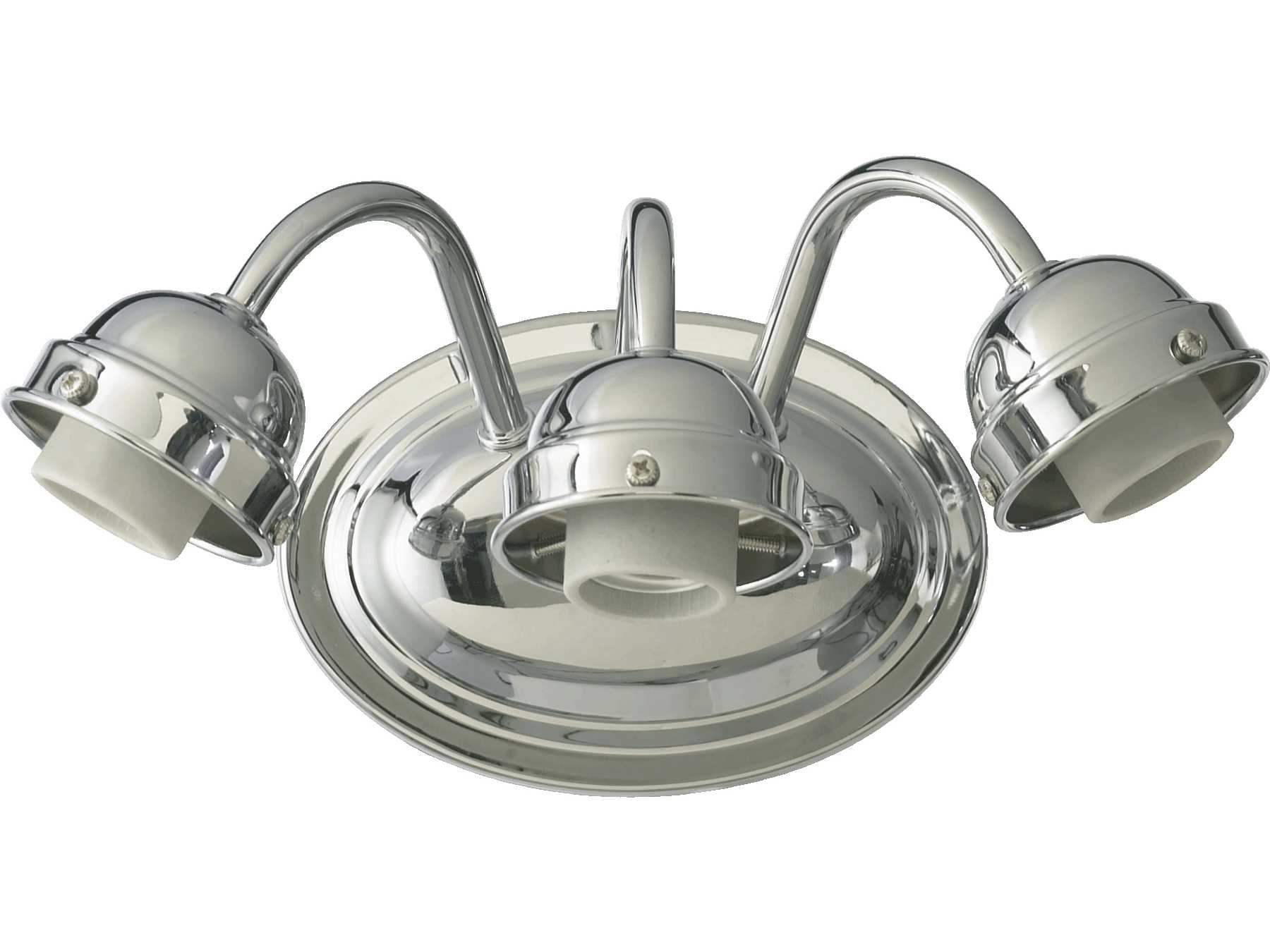 Quorum International Chrome Three-Lights Vanity Light 5403-3-014