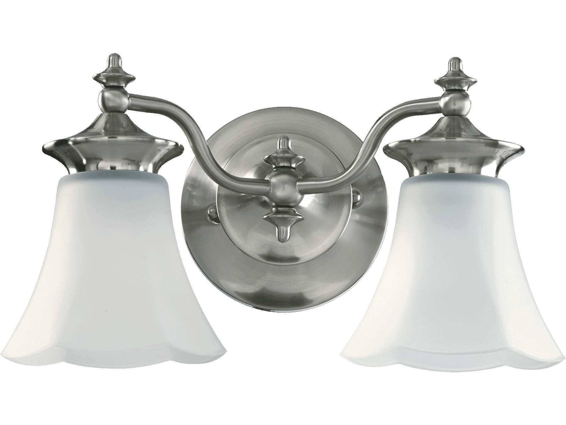 Quorum international amherst satin nickel two lights for International decor wall lights