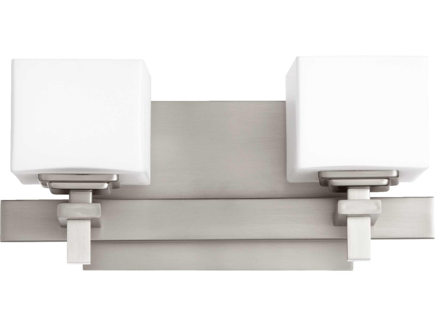 Quorum international satin nickel two lights wall sconce for International decor wall lights