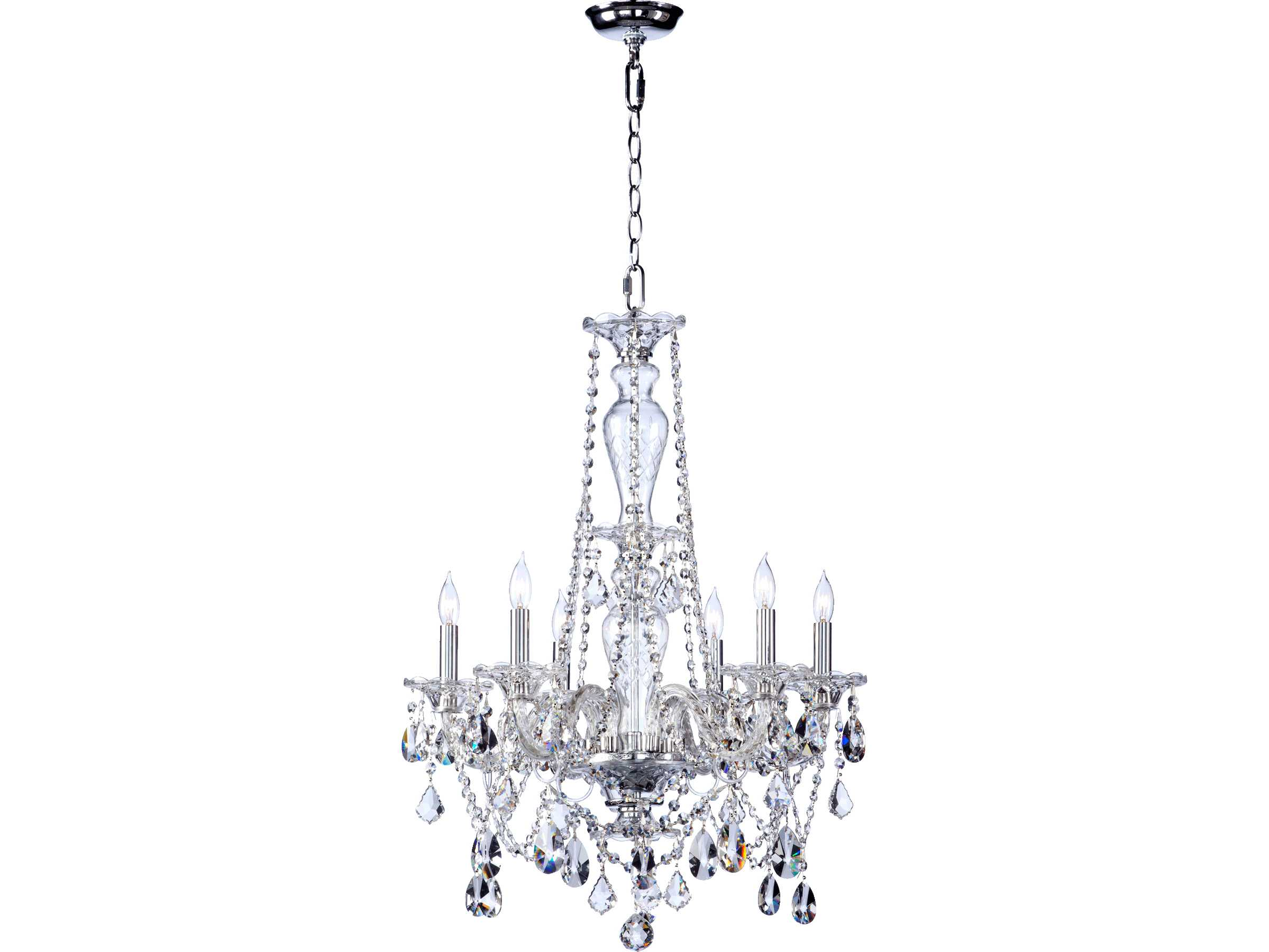 Quorum International Bohemian Marien Chrome Six Light 22