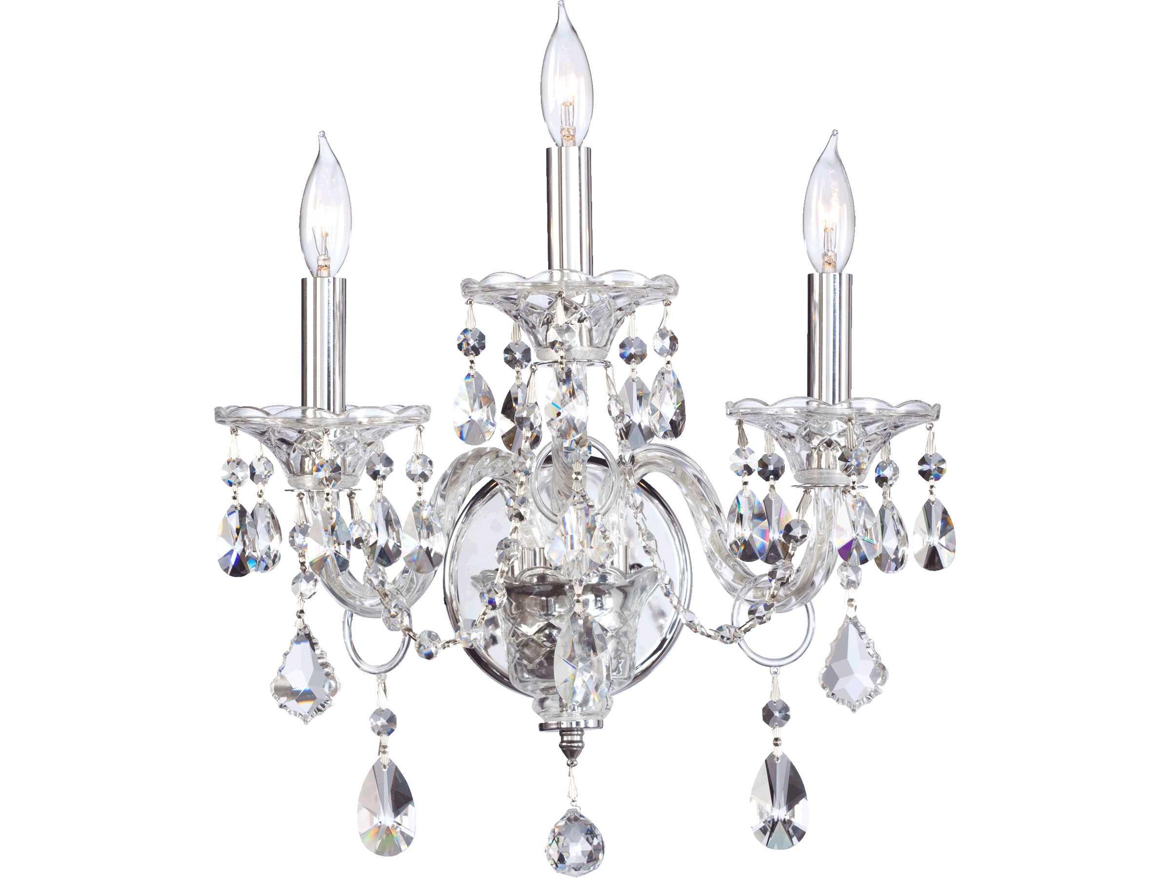 Quorum international bohemian marien chrome three lights for International decor wall lights