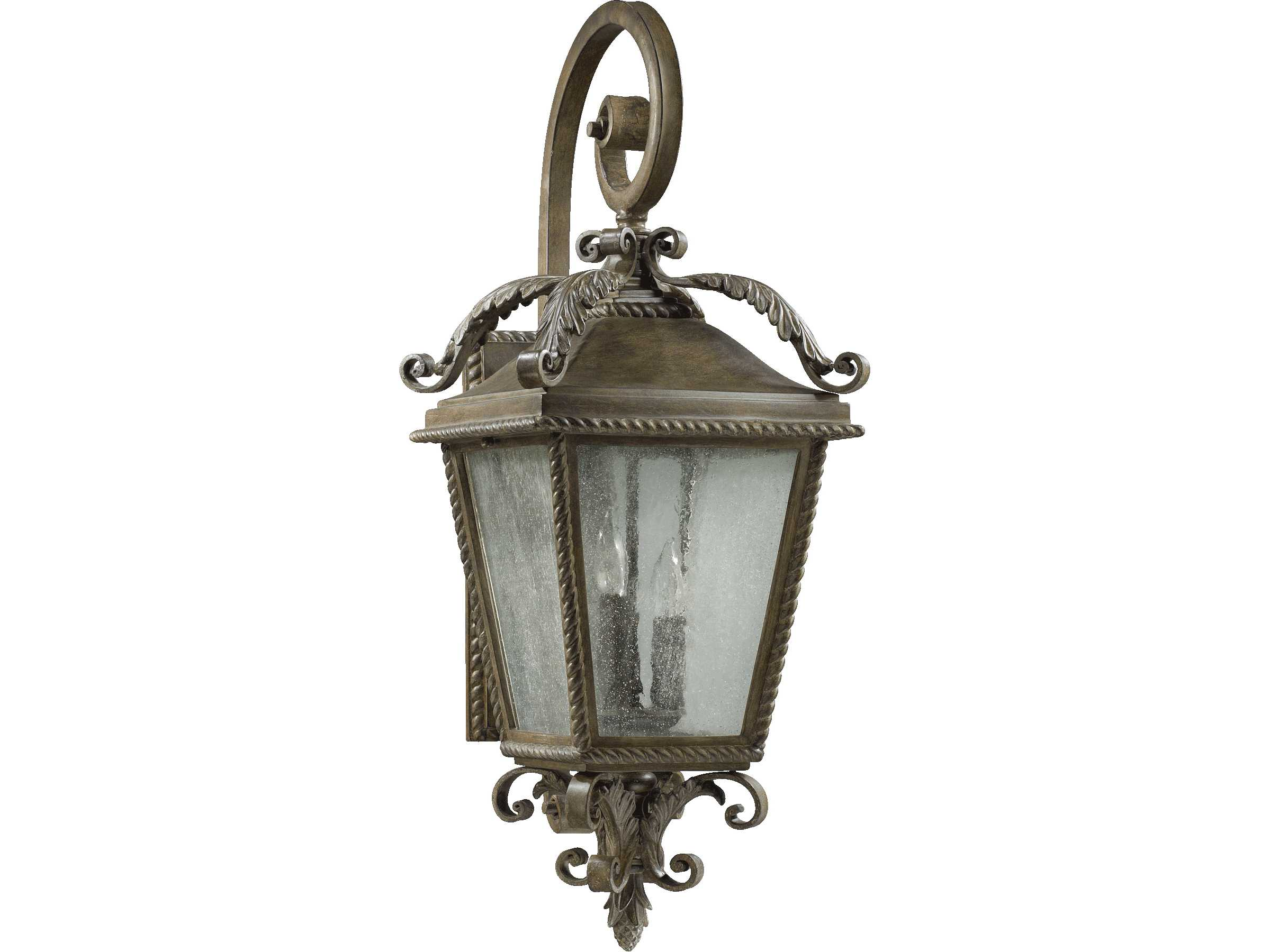 Quorum international rochelle etruscan sienna three lights for International decor wall lights