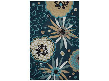 Rizzy Home Azzura Hill Modern Blue Hand Made Synthetic Floral/Botanical 2' x 3' Area Rug - AZHAH054A57890203