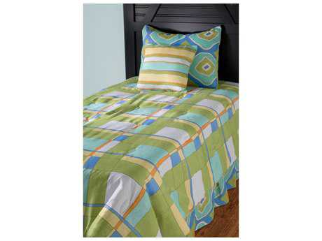 Rizzy Home Plaid Green Full/Queen Comforter Bed Set