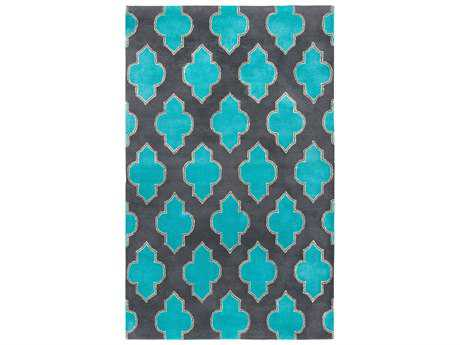 Rizzy Home Fusion Transitional Gray Hand Made Wool Geometric 2' x 3' Area Rug - FUSFN220900330203