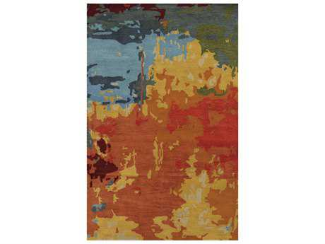 Rizzy Home Highland Modern Yellow Hand Made Wool Abstract 8' x 10' Area Rug - HIGHD851300280810