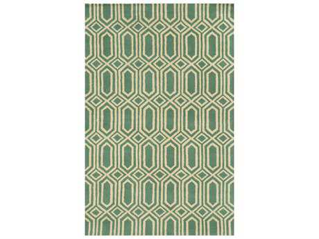 Rizzy Home Julian Pointe Modern Green Hand Made Wool Geometric 2' x 3' Area Rug - JLPJP877600520203