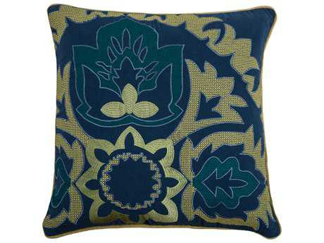 Rizzy Home Blue Pillow Cover