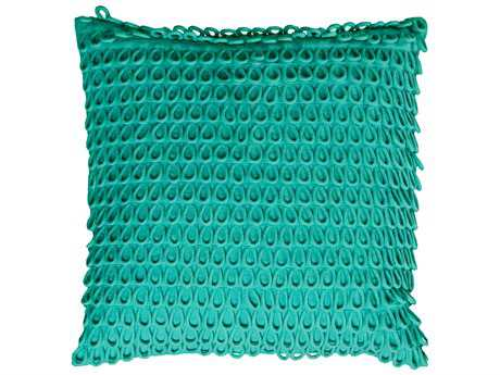 Rizzy Home Teal Pillow Cover