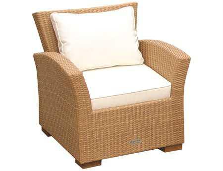 Royal Teak Charleston Wicker Cushion Honey Lounge Chair