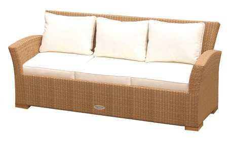 Royal Teak Charleston Wicker Cushion Honey Sofa