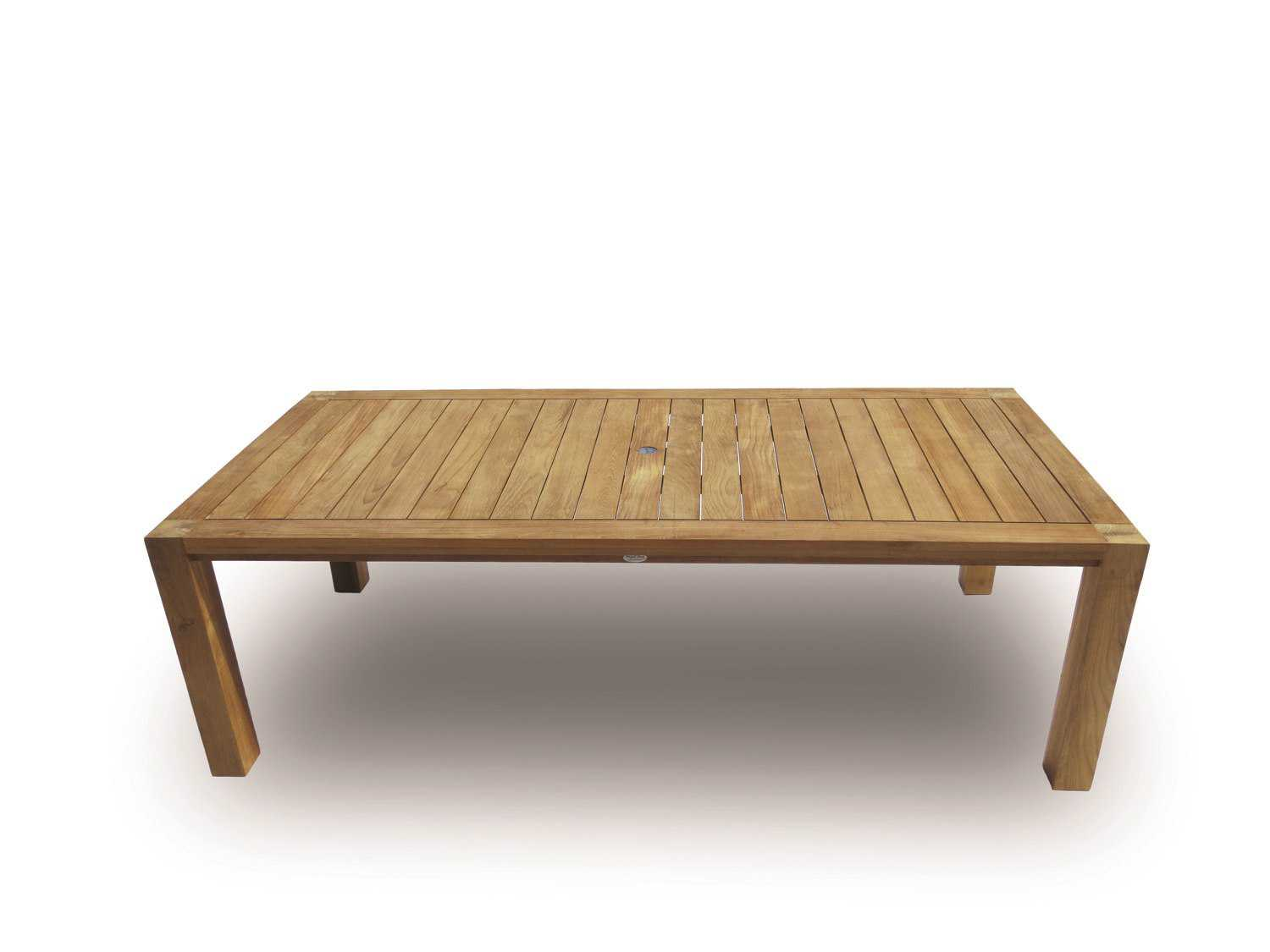 Royal teak collection comfort 96 x 43 rectangular dining for Royal dining table