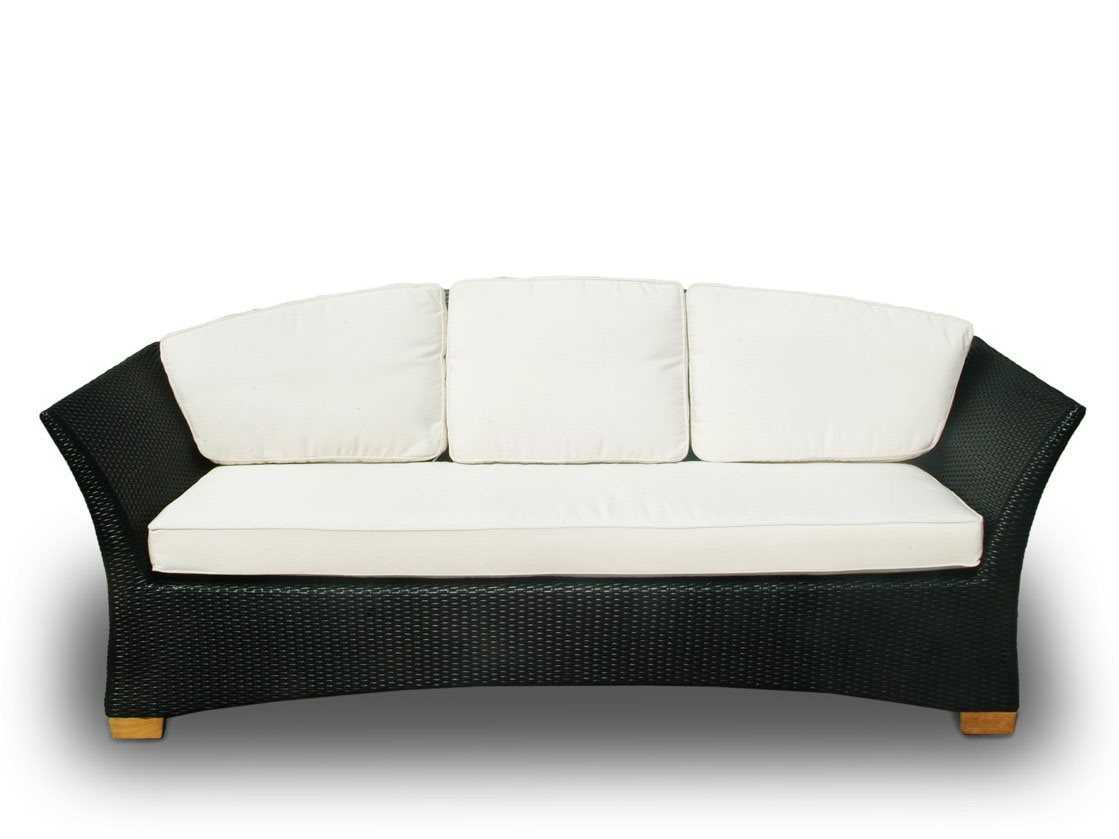Royal Teak Collection Copenhagen Black Wicker Cushion Sofa Copsb
