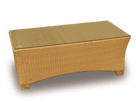 Royal Teak Copenhagen Wicker 45 x 24 Rectangular Honey Coffee Table