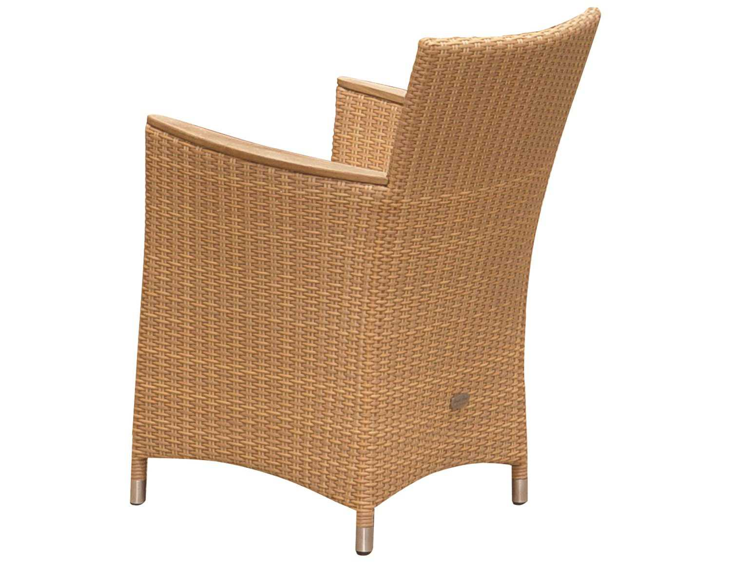 Royal Teak Helena Wicker Cushion Honey Dining Chair HEFWHO