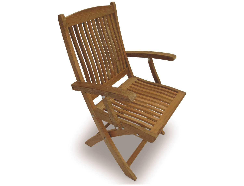 royal teak collection sailor folding dining arm chair sfc