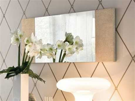Rossetto Diamond 47'' x 20'' Ivory Crocodile Leather Wall Mirror