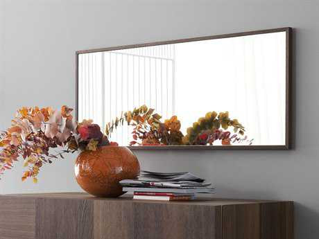 Rossetto Air 44''x 19'' Thermotrattato Oak Wall Mirror