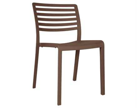 Resol Lama Recycled Plastic Chocolate Side Chair