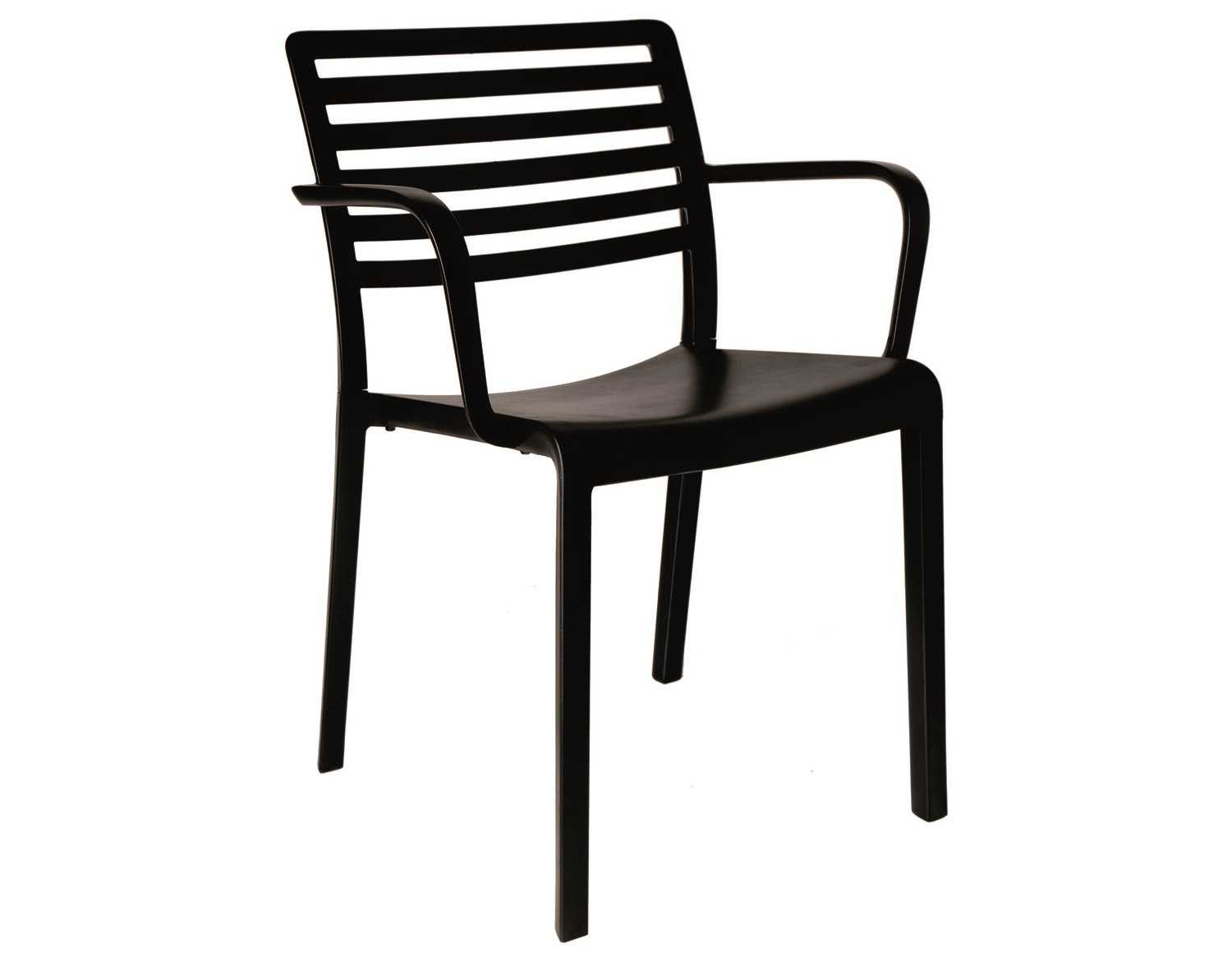 resol lama recycled plastic black arm chair  zoom