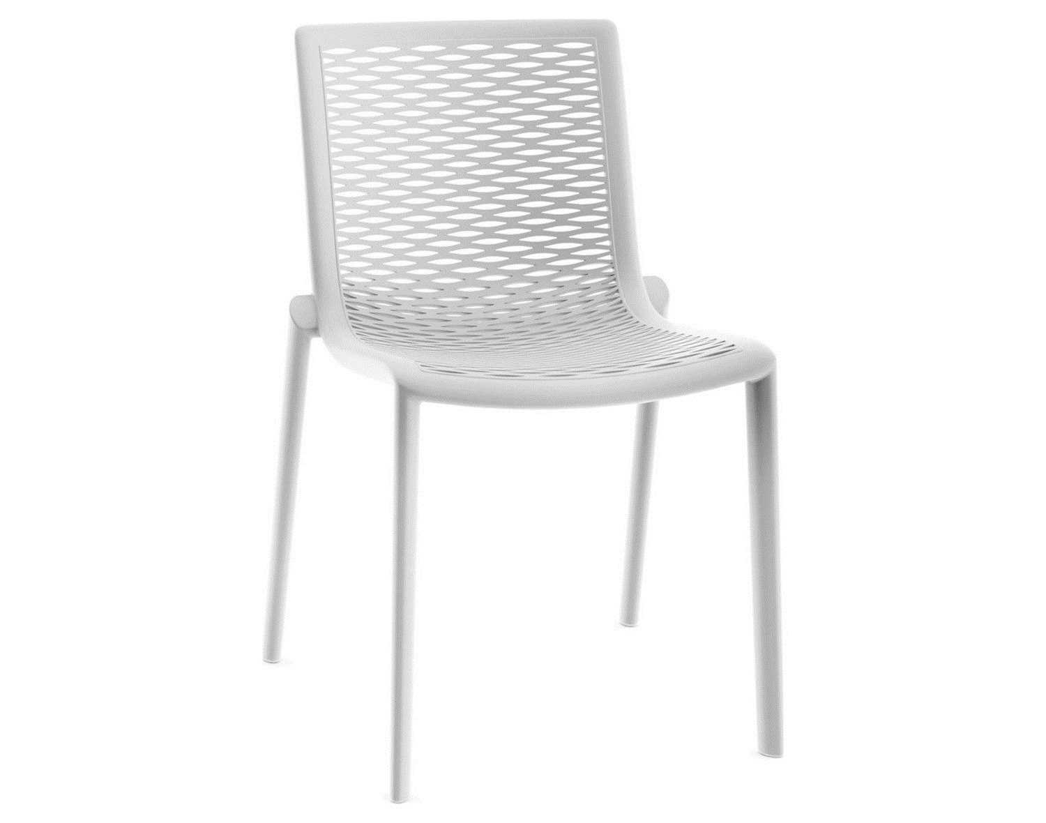 resol net kat recycled plastic white side chair  zoom