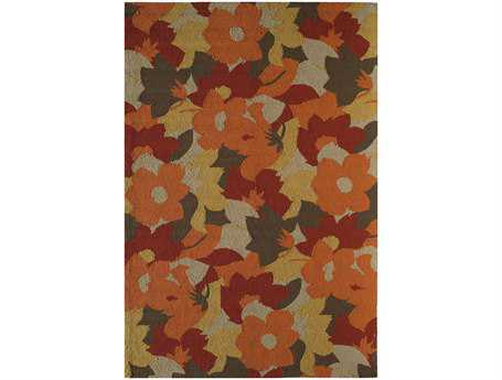 Rugs America Lenai Transitional Red Other Synthetic Floral/Botanical 2' 6