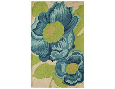 Rugs America Lenai Transitional Blue Other Synthetic Floral/Botanical 2' 6
