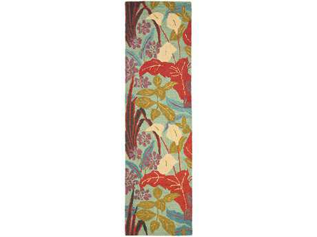 Safavieh Blossom Transitional Red Hand Made Wool Floral/Botanical 2'3'' x 8' Area Rug - BLM674A-28