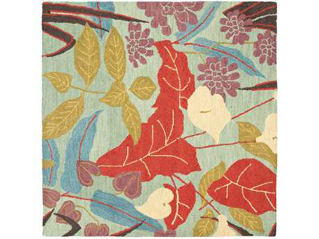 Safavieh Blossom Transitional Red Hand Made Wool Floral/Botanical Area Rug- BLM674A-SQU