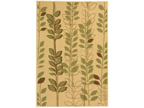 Safavieh Courtyard Transitional Green Machine Made Synthetic Floral/Botanical 2'7'' x 5' Area Rug - CY4029A-3