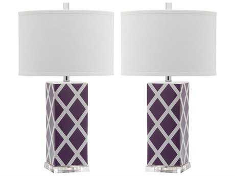 Safavieh Garden Lattice Light Purple Table Lamp (2 Piece Set)