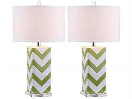 Safavieh Chevron Green Table Lamp (2 Piece Set)