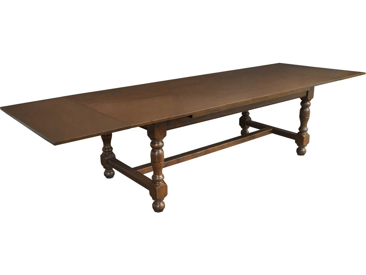 Sarreid 95 x 43 rectangular clockwork drop leaf walnut for Rectangular drop leaf dining table