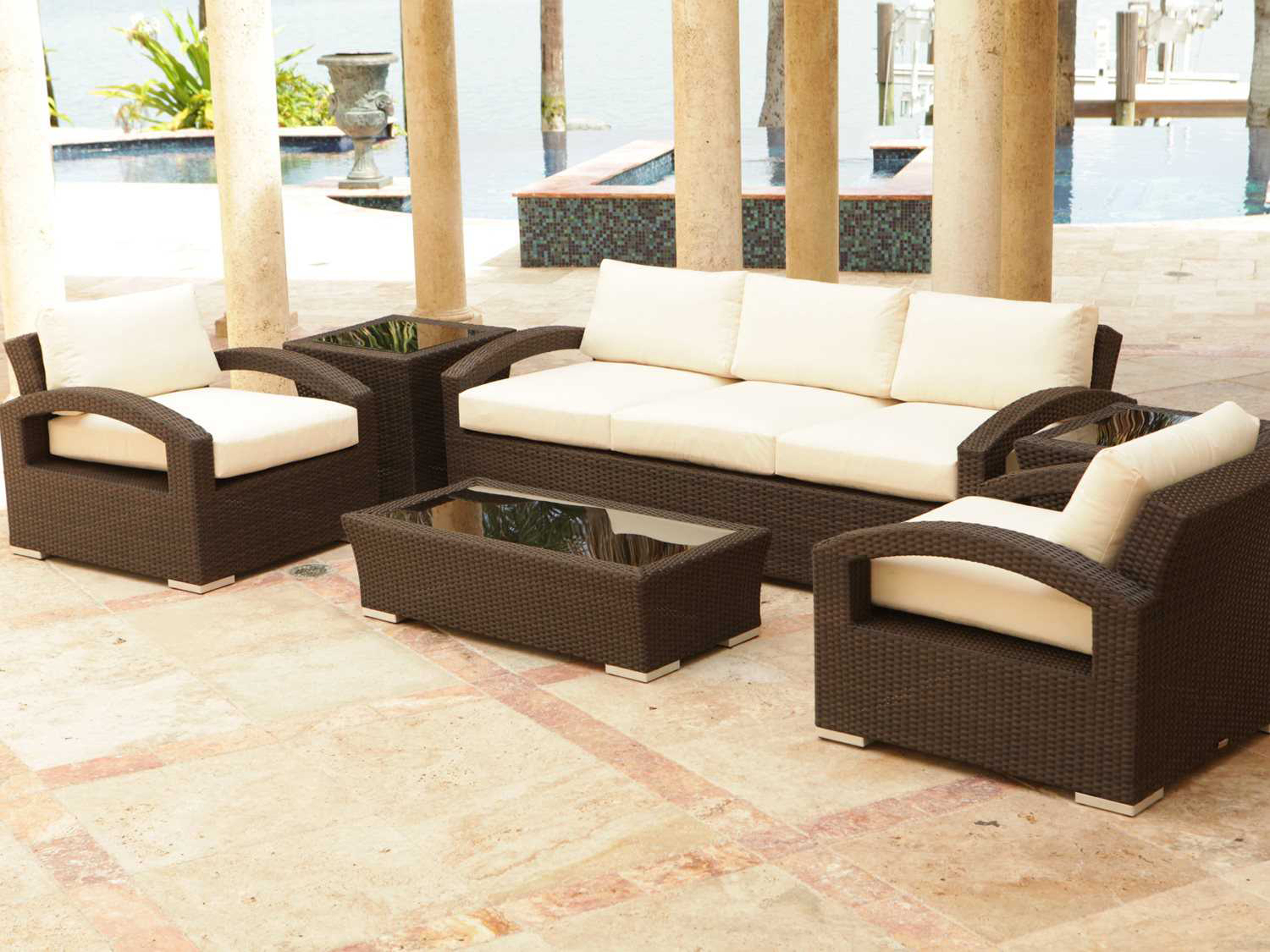 Source outdoor furniture como lago wicker 48 x 24 for Lago furniture