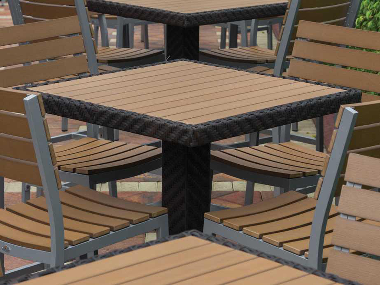 Source Outdoor Furniture Arizona Wicker 32 Square Bar