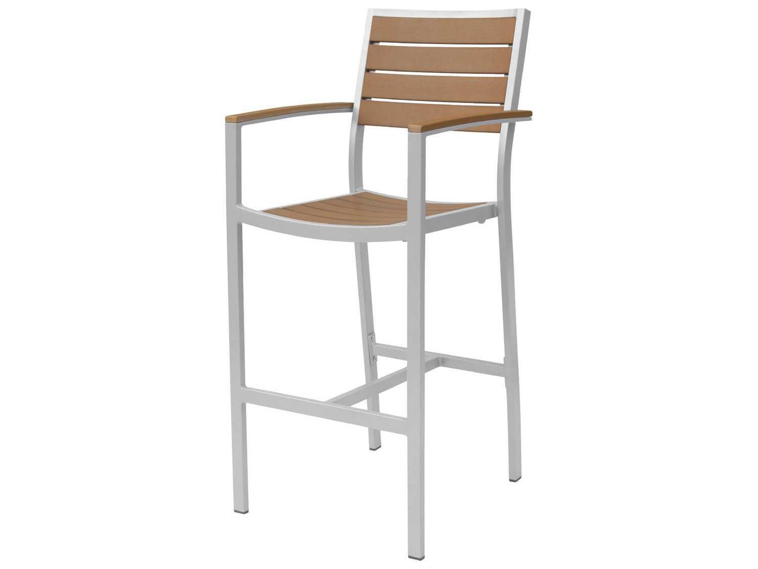 Source outdoor furniture napa aluminum bar arm chair sc for Source outdoor furniture