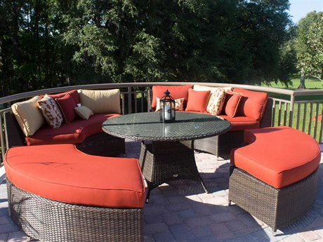 Source Outdoor Circa Wicker 8 or more Cushion Casual Patio Dining Set