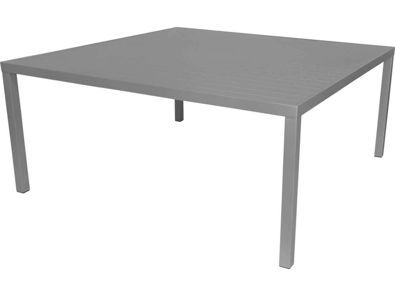 Source outdoor furniture liam aluminum 72 square dining for 12 seat outdoor dining table
