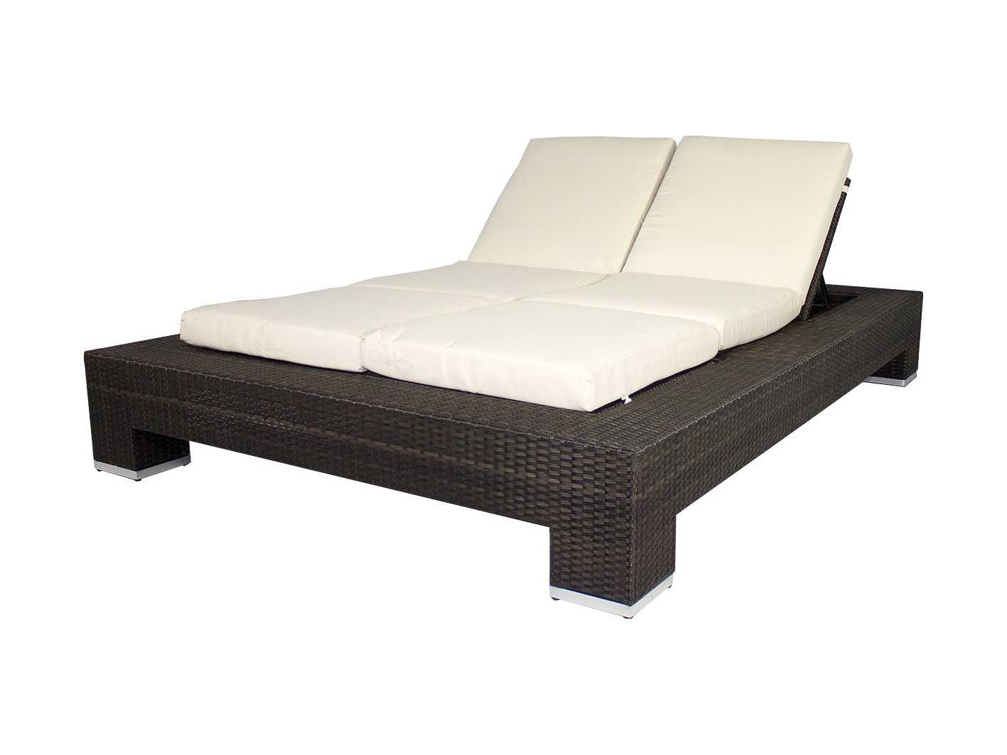 Source outdoor furniture king double chaise lounge for Chaise longue double a bascule