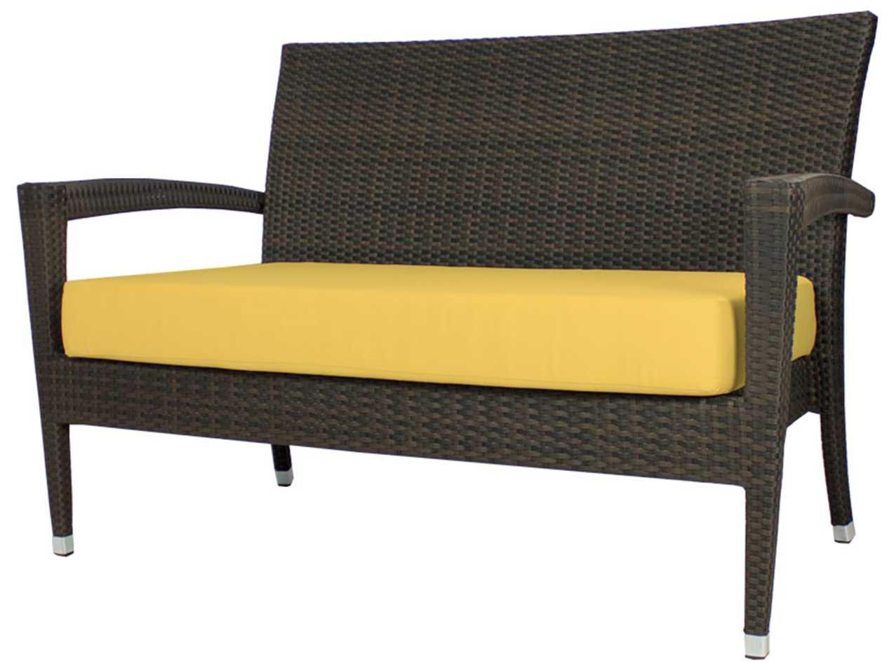 Source outdoor furniture zen wicker loveseat so 2002 102 for Source outdoor furniture