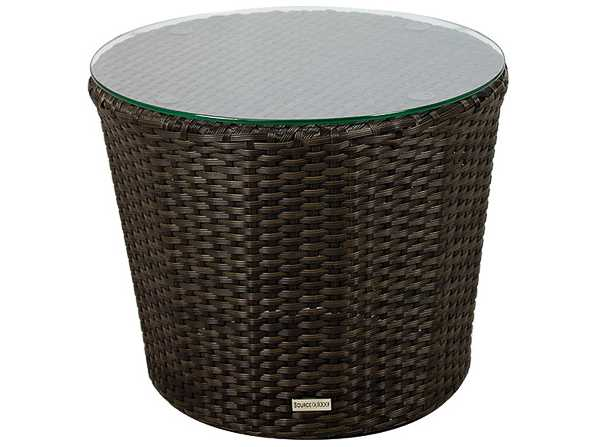 Source Outdoor Furniture Wave Wicker 20 Round Side Table