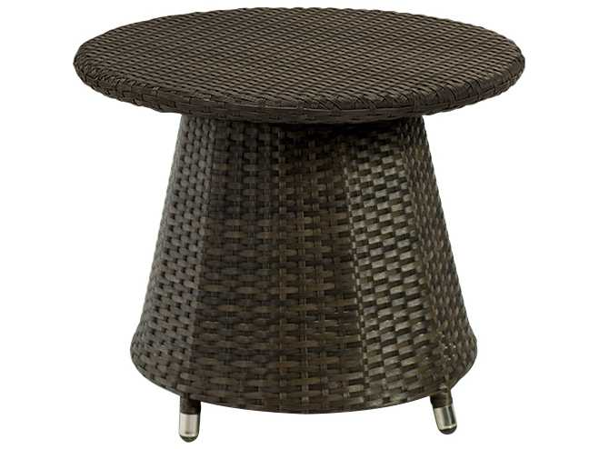 Source Outdoor Furniture Circa Wicker 24 Round Small Coffee Table So 2006 323
