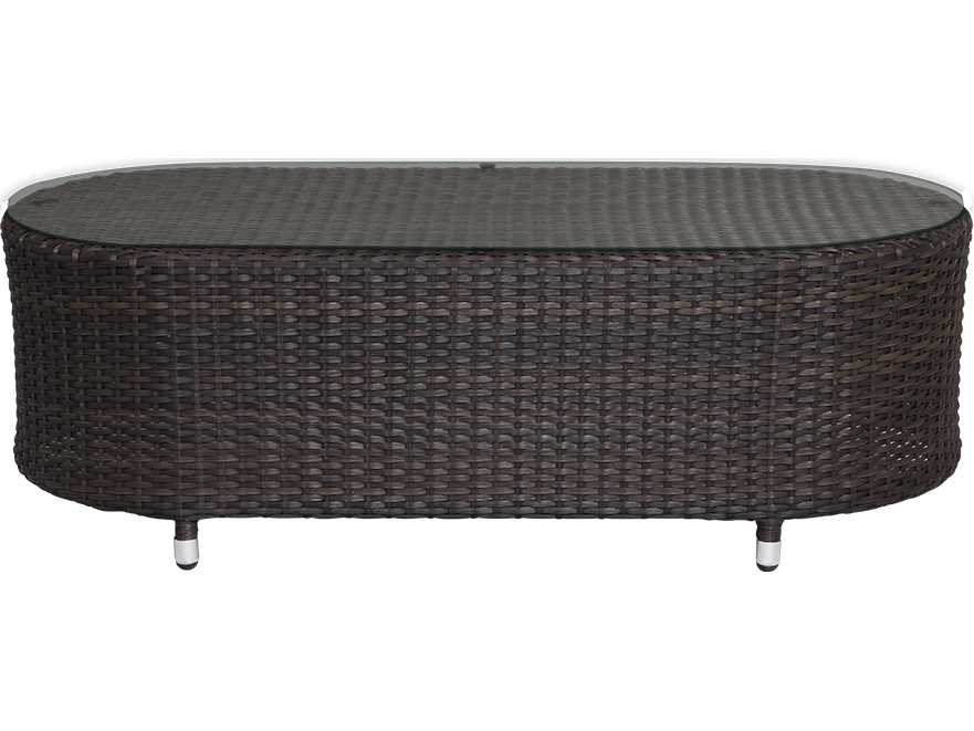 source outdoor furniture circa wicker 50 x 24 oval coffee
