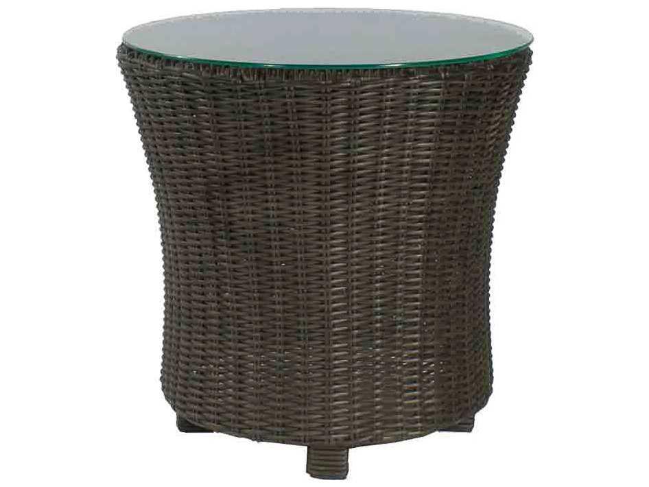 Source outdoor furniture wellington wicker 24 round end for Outdoor furniture wellington