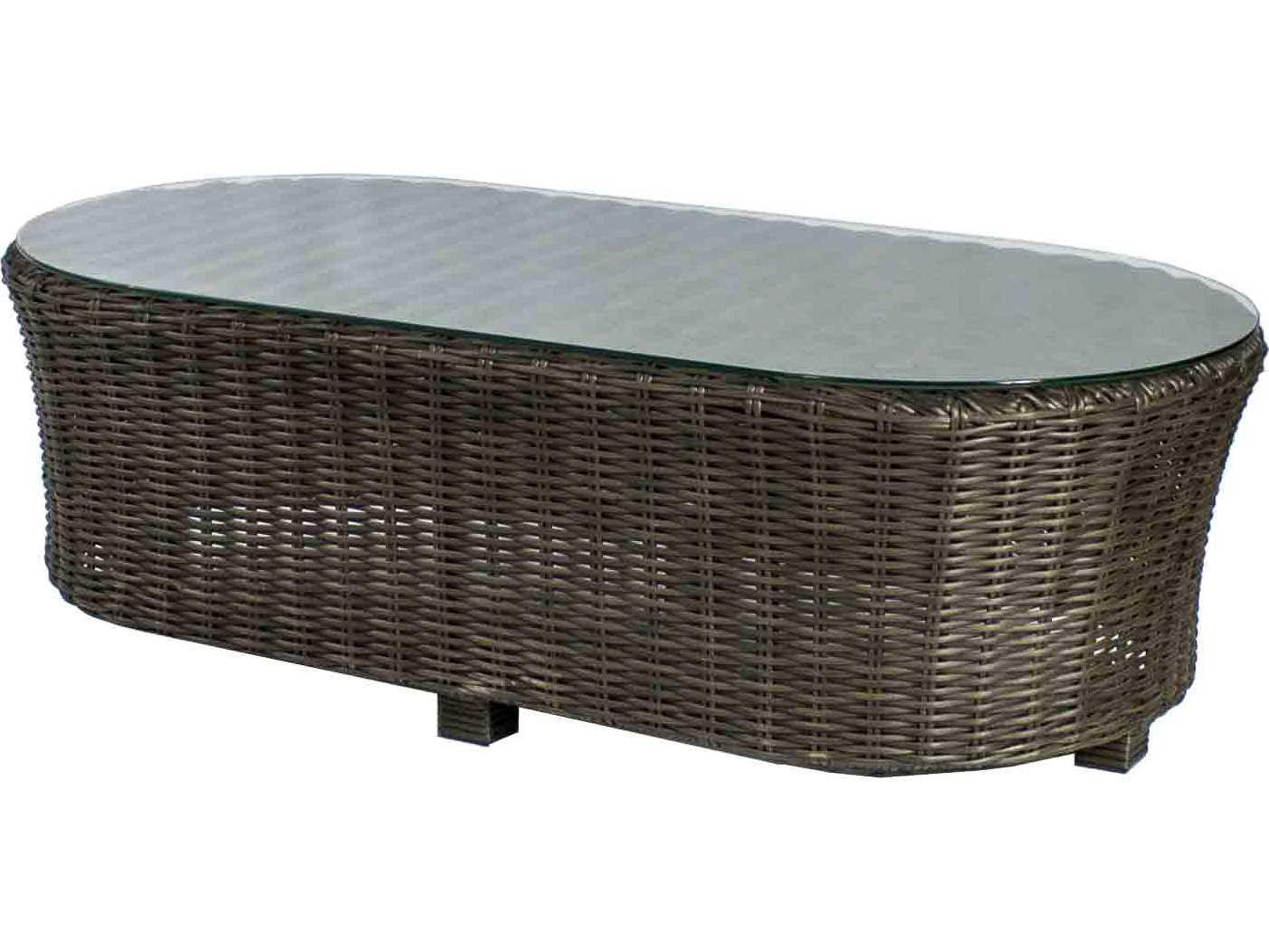Source outdoor furniture wellington wicker 48 x 24 oval for Outdoor furniture wellington