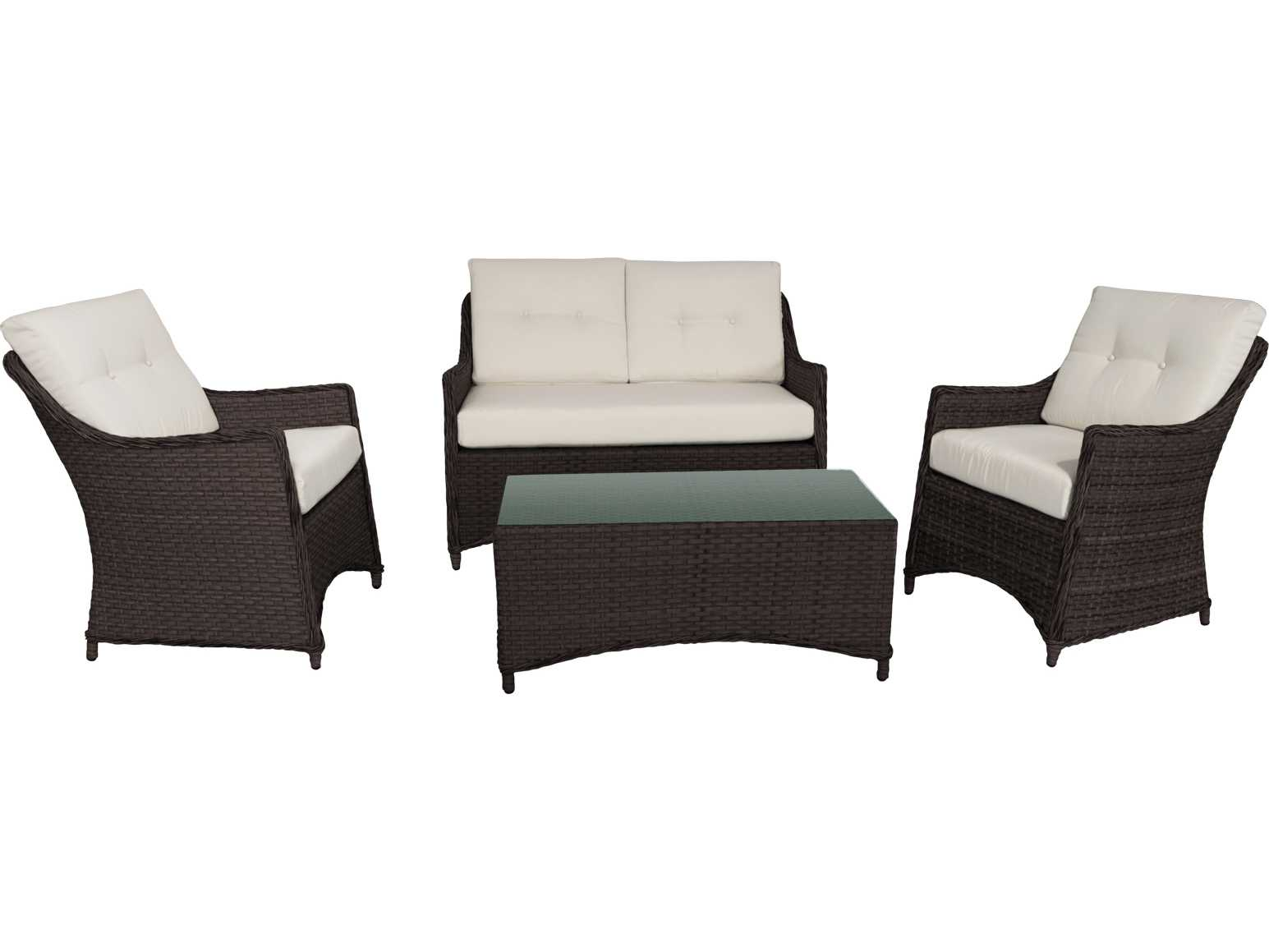 Source Outdoor Furniture Alpine Wicker 4 Piece Set