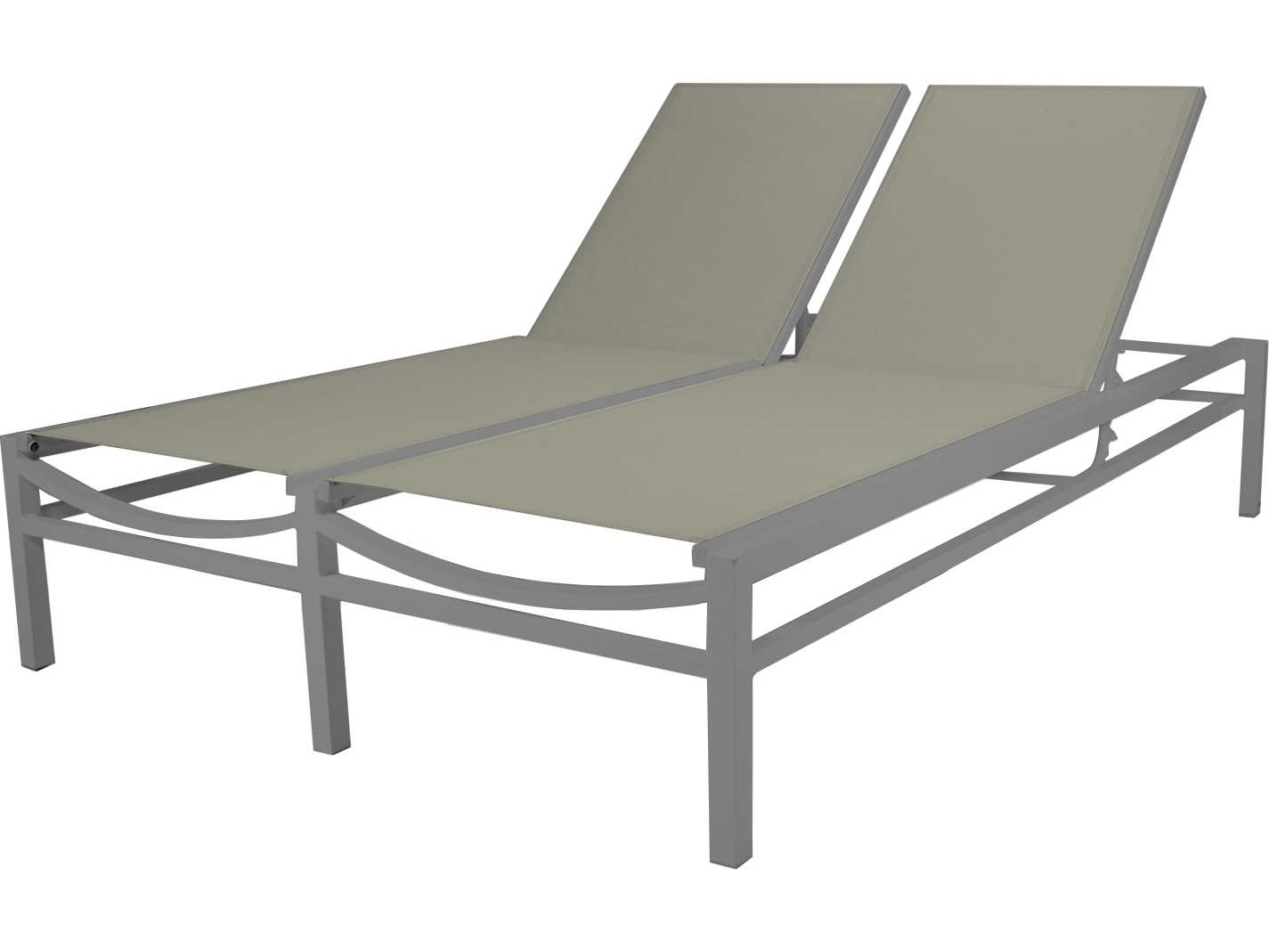 Source outdoor furniture fusion aluminum armless double for Chaise mullca 511