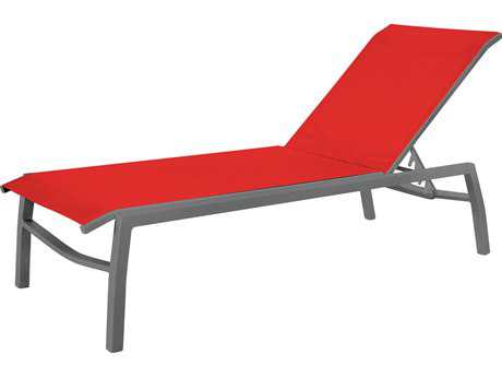 Source outdoor furniture metro aluminum armless chaise for Armless chaise slipcover